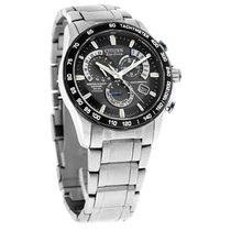 Citizen Eco-Drive Mens Titanium Perp Calendar Atomic Watch...