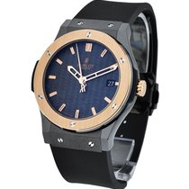 Hublot Classic Fusion 45mm Ceramic with RG Gold Bezel