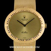 Rolex 18k Yellow Gold Oval Cellini Dress Gents Wristwatch 4319