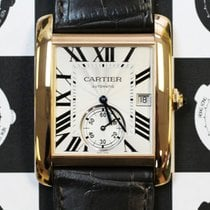 Cartier W5330001 Tank MC Rose Gold Large Model Silver Dial...