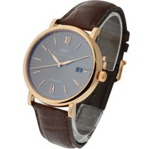 IWC IW356511 Portofino Automatic in Rose Gold - on Brown...