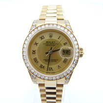Rolex 18K yellow Gold Lady Datejust 26mm 179158 with Diamond...