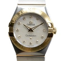 Omega Constellation Gold And Steel Silver Quartz 123.20.27.60....
