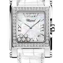 Chopard Happy Sport Square Stainless Steel & Diamonds...