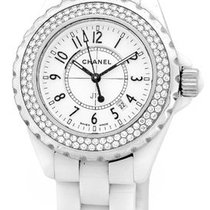 "Chanel Diamond ""J-12"" Fashion Watch."