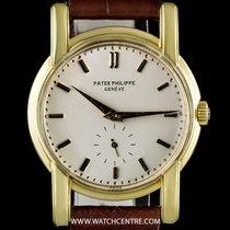 Patek Philippe 18k Yellow Gold Silver Dial Vintage Calatrava 2428