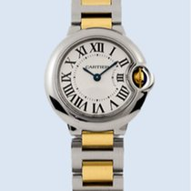 Cartier Ballon Bleu 33 mm Automatik Stahl Gold -NEU-