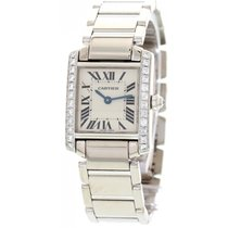 Cartier Ladies Cartier Tank Francaise 18k White Gold Diamond...