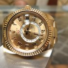 Rolex SKYDWELLER YELLOW GOLD ON BRACELET REF. 326938 CHAMPAG
