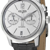 Vulcain 50s Presidents Grey Leather Strap Chronograph Automati...