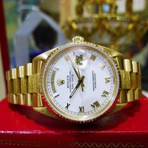 Rolex 18k Yellow Gold Day Date President Bark Champagne Ref:...