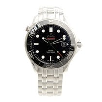 Omega Seamaster Stainless Steel Black Automatic 212.30.41.20.0...