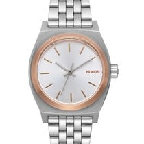 Nixon A399-2632 Small Time Teller Silver Rose Gold 26mm 10ATM