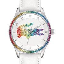 Lacoste Victoria Womens Rainbow Crystal Crocodile - Steel Case...