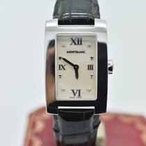 Montblanc 7077 Mop  Diamond   Stainless Steel Genuine Leather ...