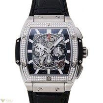 Hublot Spirit of Bing Bang Titanium Diamonds Bezel Men`s Watch