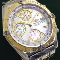 Breitling CHRONOMAT CHRONOGRAPH 18K GOLD/SS PEARL DIAL LIMIT