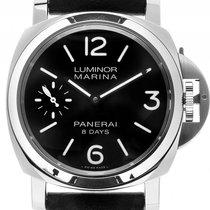 Panerai Luminor Marina 8 Days Stahl Handaufzug Armband Leder...