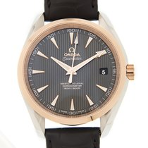 Omega Seamaster 18k Rose Gold And Steel Gray Automatic...