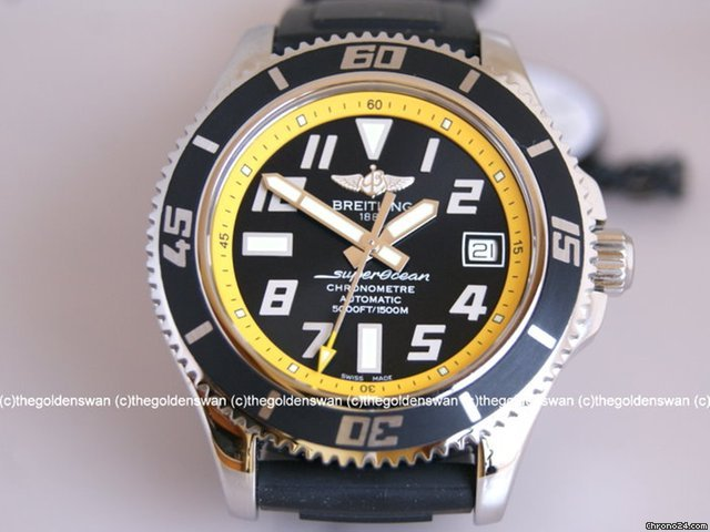Breitling SuperOcean Yellow Automatic Watch A1736402