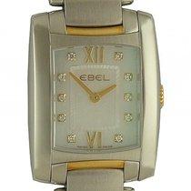 Ebel Brasilia Stahl/Gelbgold Diamond Perlmutt Quarz 30x23mm
