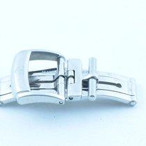 Baume & Mercier Leder Armband Faltschliesse 14mm Edelstahl