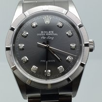 Rolex AIRKING SAPHIR GLASS YEAR 2004 GREY DIAMONDS DIAL