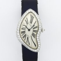 Cartier Vintage White Gold Diamond Crash Watch