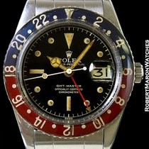 Rolex 6542 Gmt Master No Crown Guards Gilt Chapter Dial Steel