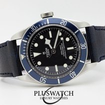 Tudor Heritage Black Bay Automatic  Matt Blue Disc Leather Strap