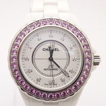 Chanel J12 Automatic H2011 White Ceramic Diamond Dial Pink...