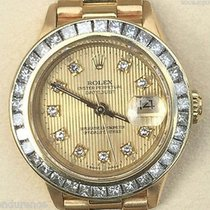 Rolex Ladies President 18k Gold Diamond Tapestry Dial &...