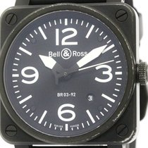 Bell & Ross Aviation Pvd Rubber Automatic Mens Watch...
