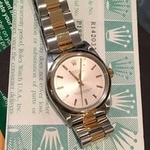 Rolex 34mm Silver Index Dial Oyster Perpetual 14203 Box &...