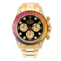 Rolex Daytona 18 K Yellow Gold Black Automatic 116598RBOW