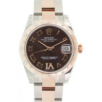 Rolex Datejust 178341 Ladies Midsize 18k Rose Gold Diamond...