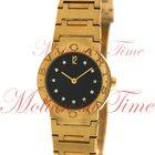 Bulgari Ladies, Black Diamond Dial - Yellow Gold on Bracelet