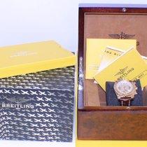 Breitling Chronomat 44 HB0110 18K Rose Gold Leather Strap Box...