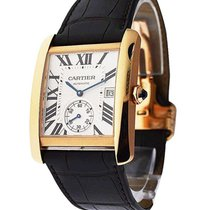 Cartier W5330001 Tank MC with Small Seconds - Rose Gold on...