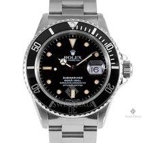 Rolex Submariner Stainless Steel Black Index Dial Black 60min...