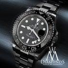 Rolex Gmt Master Ii Batman 116 Black Dial & Bezel S/steel...