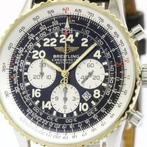 Breitling Navitimer Cosmonaute 18k Gold Steel Watch D22322...