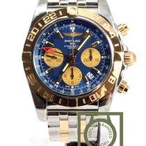 Breitling Chronomat 44 GMT Chronograph Steel/Pink Gold Blue...