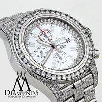 Breitling Diamond Breitling Super Avenger Watch White Index...