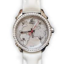 Jacob & Co. Five Time Zone Stainless Steel and White...