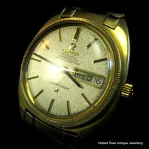 Omega Constellation Chronometer Gold Bezel Fancy Orig Day Date...