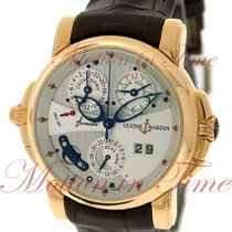 Ulysse Nardin Sonata Dual Time Alarm, Silver Dial - Rose Gold...