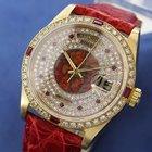 Rolex Mens Rare 1980s President 18038 Daiamond Ruby 18k Solid...