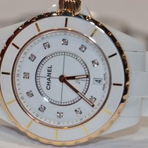 Chanel J12 White Ceramic 18K Gold Diamonds