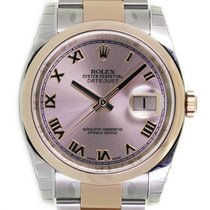 Rolex DATEJUST 36mm Steel & 18K Rose Gold Pink Roman Dial...